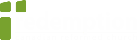 Redemption Christian Church logo in white